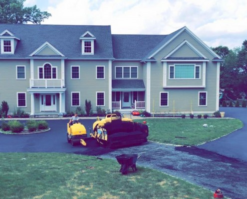 New asphalt driveway for Andy Town Propr