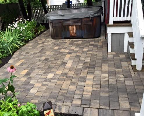 New paver patio