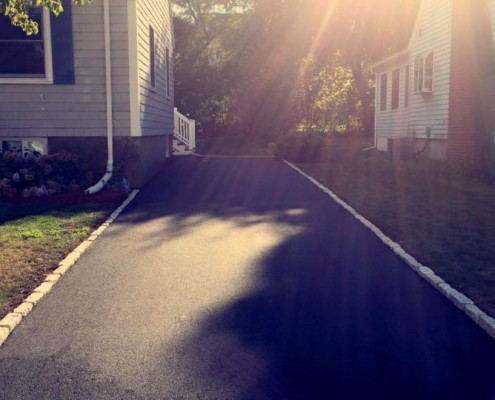 Driveway completed in Dedham MA
