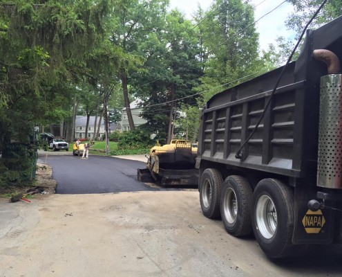 Paving the streets of Wellesley MA